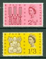 G.B.: 1963   Freedom From Hunger        MH - 1952-.... (Elizabeth II)