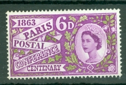 G.B.: 1963   Paris Postal Conference Centenary     MH - Neufs
