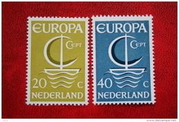 Europa CEPT NVPH 868-869 (Mi 864-865); 1966 POSTFRIS / MNH ** NEDERLAND / NIEDERLANDE - 1949-1980 (Juliana)
