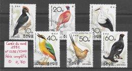 Oiseau Cigogne Faisan Pic Tétras Lyre - Corée Du Nord N°2295 à 2300 1992 O - Non Classés