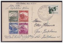 Dt.- Reich (005096) AK Wiesbaden Mit Satz MNR 580/ 83 100. Jahre Eisenbahn, Gelaufen Mit SST Am 18.8.1935 - Deutschland