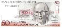 Brazil - Pick 223 - 50 Cruzados Novos = 50 Cruzeiros 1990 - Unc - Brasile