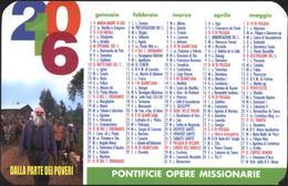 Pocket (small) Calendar Pontifical Mission Societies 2016 From Vtican - Calendars