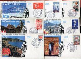 RC 10363 FRANCE 1981 68eme TOUR DE FRANCE CYCLISTE LOT DE 7 ENVELOPPES DIFFERENTES TB - Cyclisme