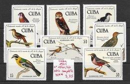 Oiseau Faucon Crécerelle Chouette Colibri - Cuba N°1540 à 1547 1971 ** - Non Classés