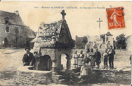 56 Morbihan Environs De Josselin Cruguel Calvaire Et Fontaine Rare - France