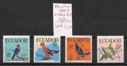 Oiseau Cardinal Perroquet - Equateur N°644 à 647 1958-59 ** - Perroquets & Tropicaux