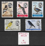 Oiseau Loriot Pinson Oie - Ethiopie N°390, PA N°74, 75, 78,104 1962-67 O - Non Classés