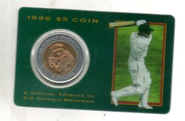 Australie. 5$. Sir Donald Bradman. 1996 - Mint Sets & Proof Sets