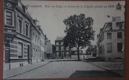 CPA WAREMME Rue De Liège Et Arbre De La Liberté - Waremme