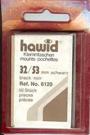 Hawid - Pochettes 32x53 Fond Noir - Bandes Cristal