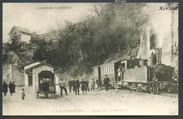 Reproduction Ancienne D'une CPA - Largentière - Gare Du Tramway - Voir 2 Scans - Largentiere