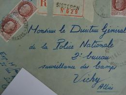 Vichy Enveloppe 1942 Pétain - Vieux Papiers