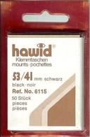 Hawid - Pochettes 53x41 Fond Noir - Bandes Cristal