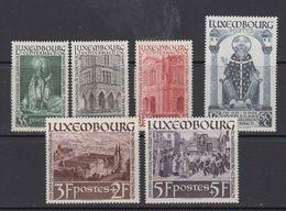 Luxemburg 1938 Hl. Willibrord 6v Mostly * Mh (= Mint, Hinged)(41259) - Ongebruikt