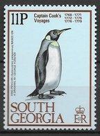 Oiseau Manchot Royal - Géorgie Du Sud N°75 11p 1979 ** - Pingouins & Manchots