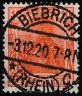 Timbre-poste Oblitéré - Germania Mit Kaiserkrone DEUTSCHES REICH Fond Ligné - N° 120 (Yvert) - Allemagne Empire 1920 - Gebraucht