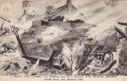 Carte Postale    A FRENCH TANK - Guerre 1914-18