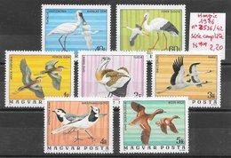 Oiseau Bergeronnette Canard Cigogne Grue Héron - Hongrie N°2536 à 2542 1976 ** - Cigognes & échassiers