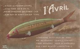 Aviation : Zeppelin : Illustrateur  - 1ér Avril - Dirigeables
