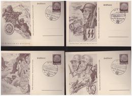 WK II Lothringen (005130) Propaganda Ganzsachen P4 01/08, Blanco Gestempelt Metz Tag Der Briefmarke Am 12.1.1941 - Ganzsachen