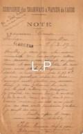 5-1239   Facture   1919 COMPAGNIE DES TRAMWAYS A VAPEUR DE L AUDE - M. CAMPS A AURILLAC - France