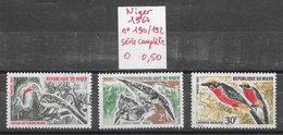 Oiseau Passereau - Niger N°190 à 192 1967 O - Passereaux