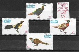 Oiseau Faisan Gibier - Pakistan N°478 à 481 1979 ** - Gallinacées & Faisans