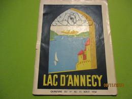 Guide/ Lac D'ANNECY/ Programme Des Spectacles/ Comité Touristique Du Lac D'Annecy/ Commerces/ 1950    PGC252 - Dépliants Touristiques