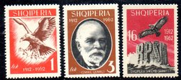 583/1500A - ALBANIA 1963 , Serie Yvert N. 601/603 (Michel 709/711) ***  MNH  Indipendenza - Albania