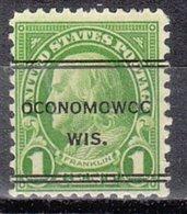 USA Precancel Vorausentwertung Preo, Locals Wisconsin, Oconomowoc 632-247 - Vereinigte Staaten