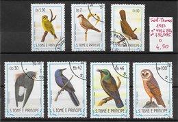 Oiseau Chouette Martinet - Saint-Thomas & Prince N°772 à 774 & N°792 à 795 1983 O - Non Classés