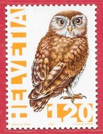 Oiseau Chouette - Suisse N°1475 1F20 1995 ** - Uilen