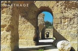 TUNISIA - CARTHAGE - VIAGGIATA FRANCOBOLLO ASPORTATO - Tunisia