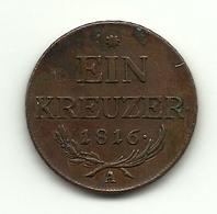 1816 - Austria 1 Kreuzer, - Austria