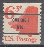 USA Precancel Vorausentwertung Preo, Bureau Wisconsin, Oshkosh 1518-71 - Vereinigte Staaten