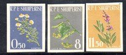 589/1500A - ALBANIA 1962 , Serie Yvert N. 573/575 (Michel 654A/656A) * Linguellata NON DENTELLATA - Albania