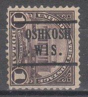 USA Precancel Vorausentwertung Preo, Locals Wisconsin, Oshkosh 571-224,5 - Vereinigte Staaten