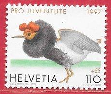 Oiseau Combattant - Suisse N°1560 1F10 + 55c  1997 ** - Ooievaars