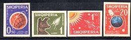 592/1500A - ALBANIA 1962 , Serie Yvert N. 585/588 (Michel 668/670) * Linguellata NON DENTELLATA - Albania