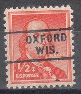 USA Precancel Vorausentwertung Preo, Locals Wisconsin, Oxford 729 - Vereinigte Staaten