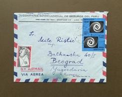 PERU Envelope (Stamps) Traveled To Yugoslavia - Pérou