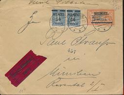 LITHUANIA MEMEL  EEXPRES COVER FROM HEYDEKRUG 1920 TO MUNCHEN - Memel (1920-1924)
