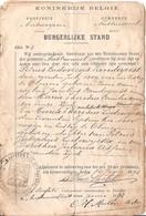 Austruweel Huwelijks Akte - Historische Documenten