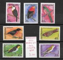 Oiseau Colibri Toucan - Suriname PA N°61 à 67 1977 ** - Perroquets & Tropicaux