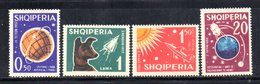 591/1500A - ALBANIA 1962 , Serie Yvert N. 585/588 (Michel 668/670) * Linguellata - Albania