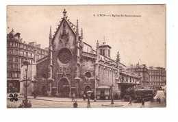 Tram Tramway Lyon Eglise St Bonaventure - Tramways