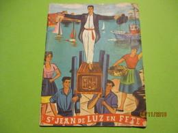 Guide/St JEAN De LUZ En Fête/Programme Des Spectacles/Commission Des Fêtes/Avec Johnny Hallyday/Commerces/ 1961   PGC254 - Dépliants Touristiques