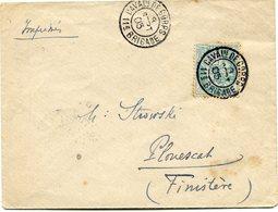 FRANCE LETTRE (IMPRIME) AFFRANCHIE AVEC LE 5 C. TYPE BLANC DEPART CAVALie DE CORPS 8 SEPT 05  11e BRIGADE POUR LA FRANCE - 1900-29 Blanc