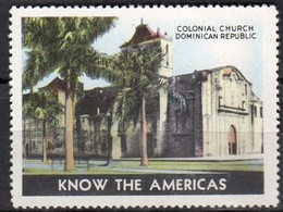 Large Cinderella Colonial Churh Dominican Republic MNH  ( Ci-P2-14f) - Dominicaanse Republiek